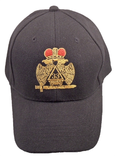 Black 33rd Degree Hat