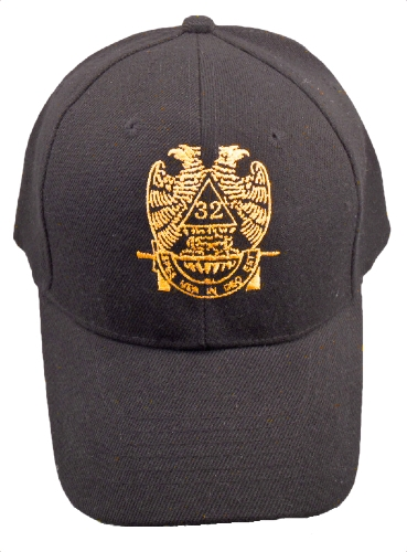 Black 32nd Degree Hat
