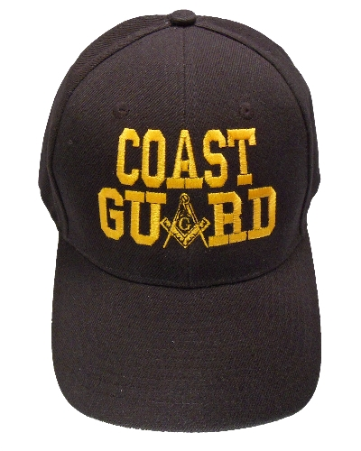 Black Coast Guard Hat
