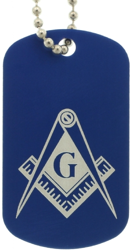 Blue Masonic Dog Tags