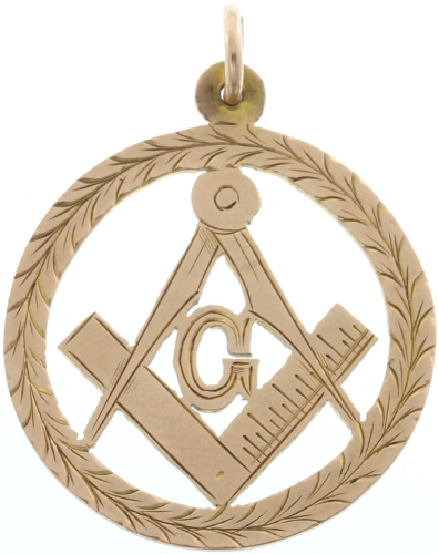 9ct Antique Masonic Pendant