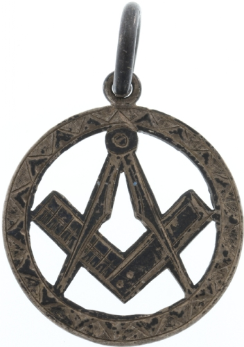 Antique Silver Masonic Pendant