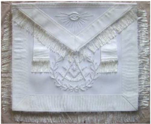 White Past Master Apron