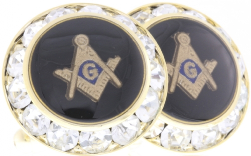 Austrian Crystal Masonic Cufflinks