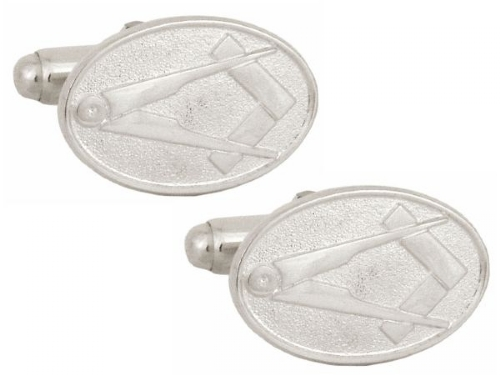 Sterling Silver Square & Compass Cufflinks