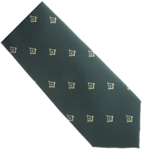 Green / Gold Masonic Tie