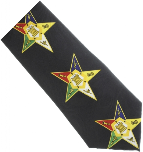 Black Eastern Star Tie