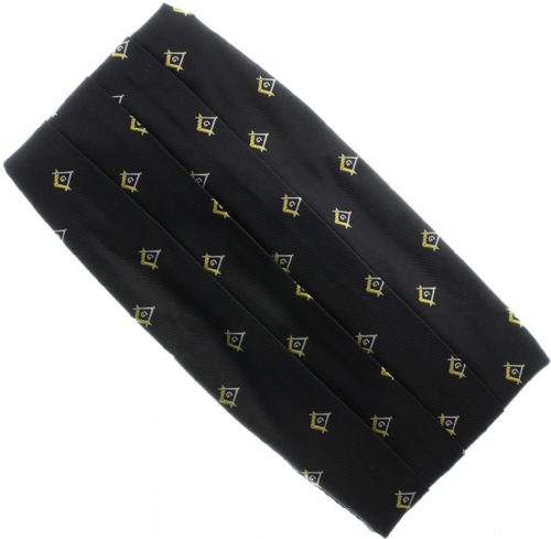 Black Square & Compass Cummerbund