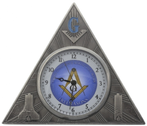 Masonic Desk Clock
