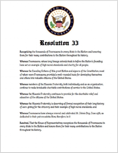 House Resolution #33 Print
