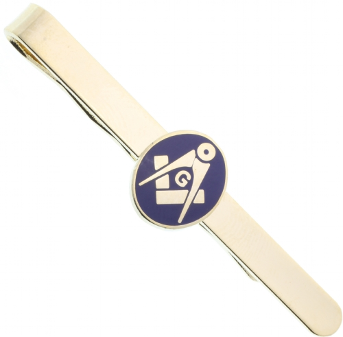 Gold Tone Masonic Tie Bar
