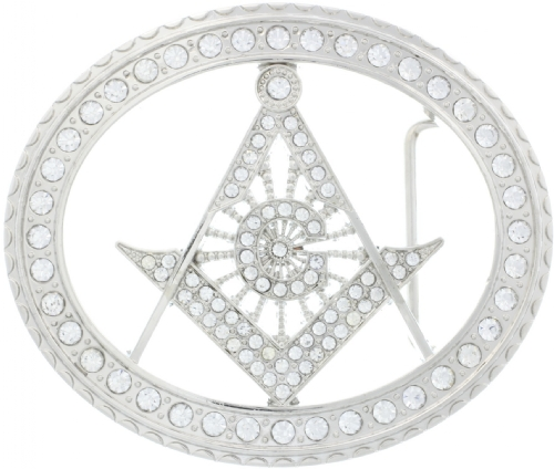 Jeweled Masonic Belt Buckle