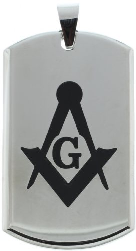 Heavy Stainless Steel Masonic Pendant