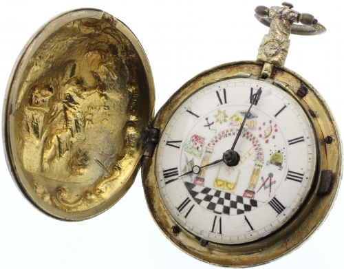 18th Century Masonic Fusee Pocket Watch