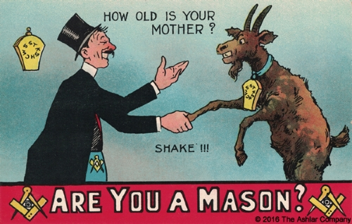 Are you a Mason? How old is your Mother Postcard