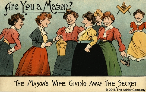 Are you a Mason? The Masons Wife giving away the Secret Postcard