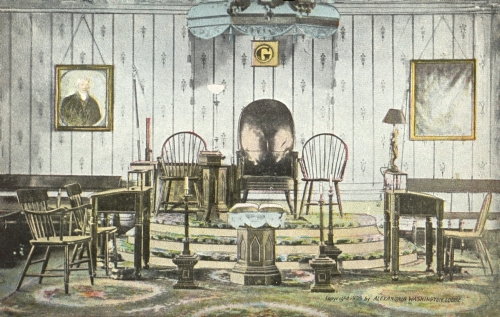 Washington's Lodge Room Postcard