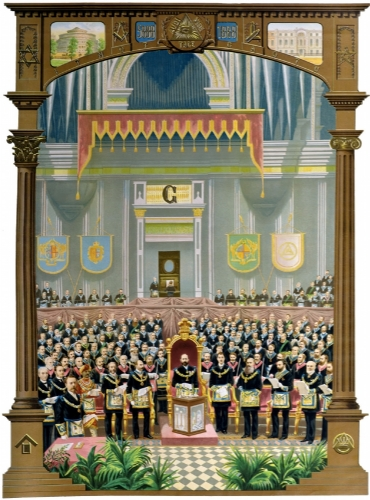 Grand Lodge In Session Postcard