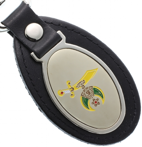 Shriners Leather Keychain