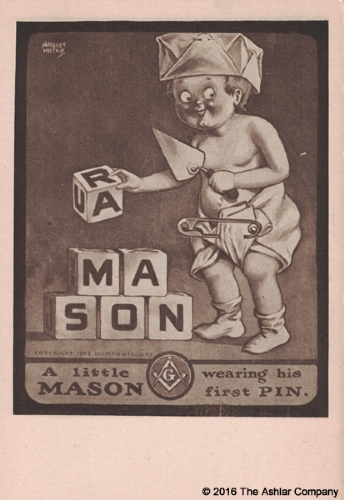 A Little Mason Wearing his First Pin Postcard