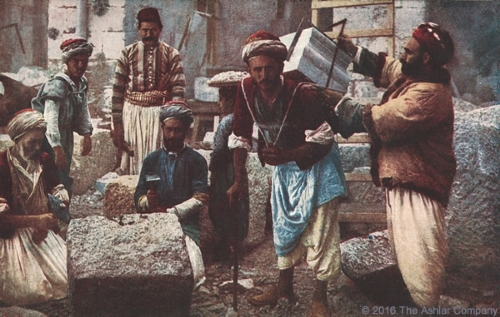 Stone Masons in Jerusalem Postcard
