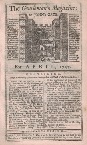 The Gentleman&#39s Magazine 1737