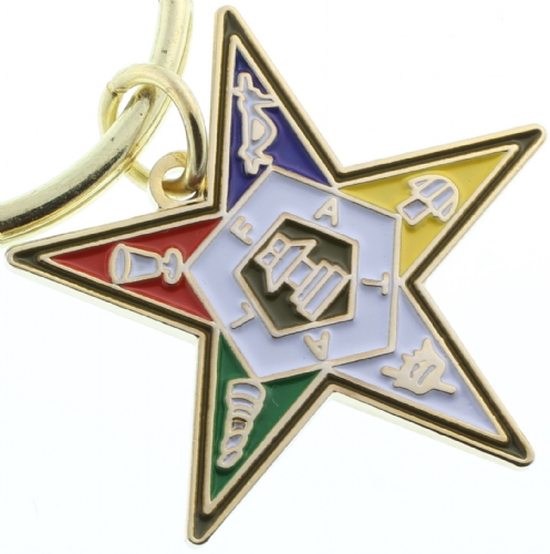 Eastern Star Keychain