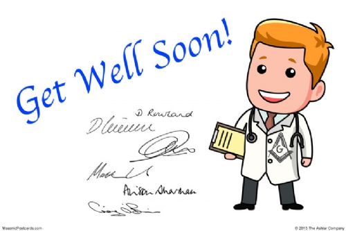 Lodge Cards - Get Well Soon Postcard