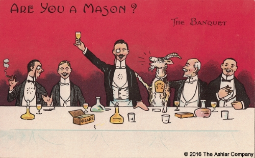 Are you a Mason? The Banquet Postcard