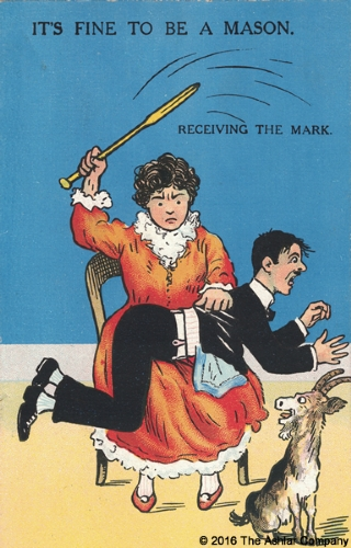 It's Fine to be a Mason. Receiving the Mark Postcard