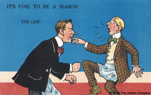 It's Fine to be a Mason. The Grip Postcard