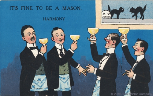 It's Fine to be a Mason. Harmony Postcard