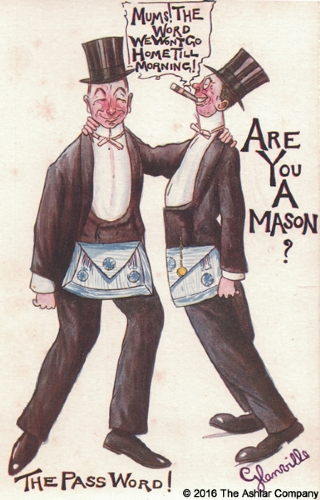 Are you a Mason? The Password Postcard