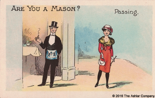 Are you a Mason? Passing Postcard