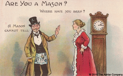 Are you a Mason? A Mason Cannot Tell Postcard