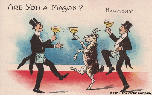 Are you a Mason? Harmony Postcard