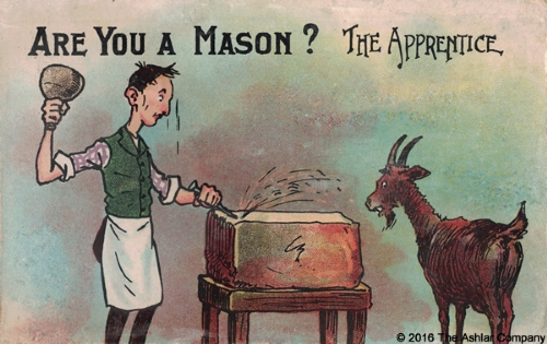 Are you a Mason? The Apprentice Postcard