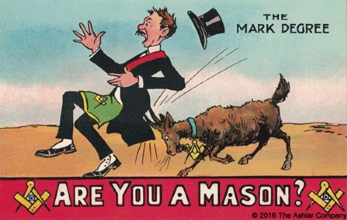 Are you a Mason? The Mark Degree Postcard