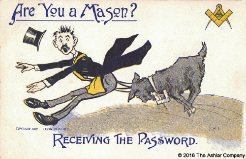 Are you a Mason? Receiving the Password Postcard