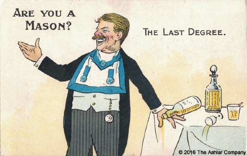 Are you a Mason? The Last Degree Postcard