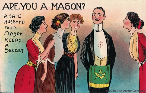 Are you a Mason? A safe husband... Postcard
