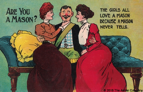 Are you a Mason? The girls all love a Mason... Postcard