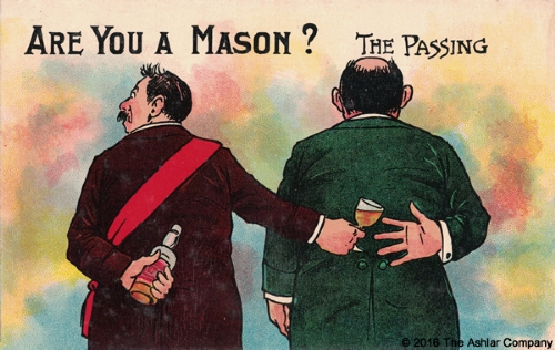 Are you a Mason? The Passing Postcard