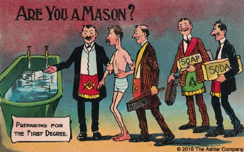 Are you a Mason? Preparing for the First Degree Postcard