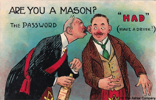 Are you a Mason? The Password - HAD Postcard
