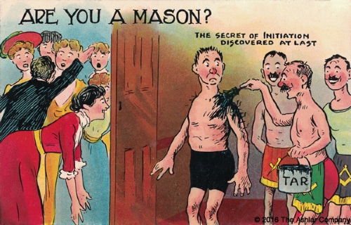 Are you a Mason? The Secret of Initiation Postcard