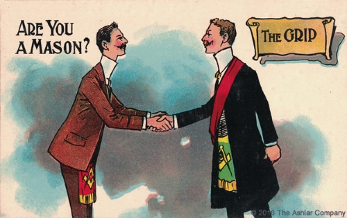 Are you a Mason? The Grip Postcard