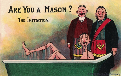 Are you a Mason? The Initiation Postcard