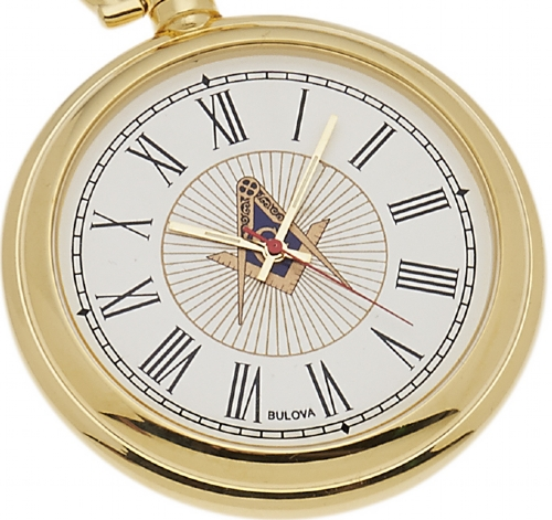 Bulova Masonic Pocket Watch