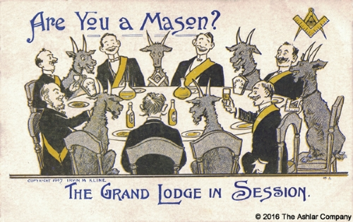 Are you a Mason? The Grand Lodge in Session Postcard